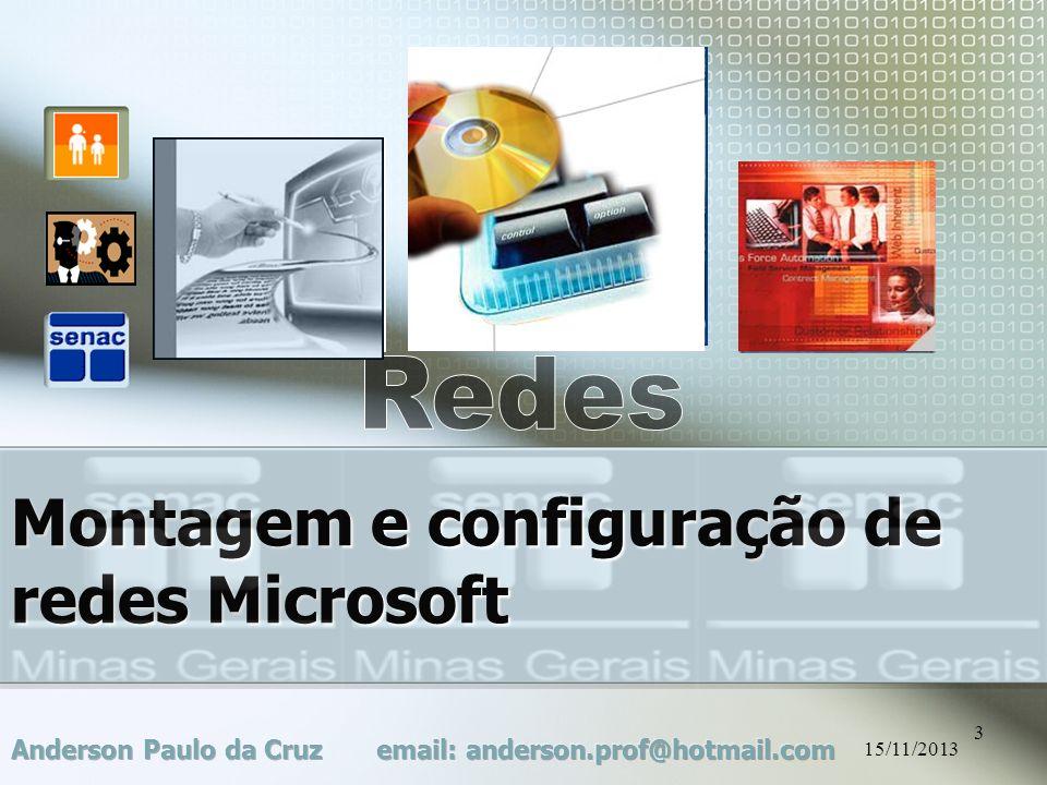Montagem e configuração de redes Microsoft