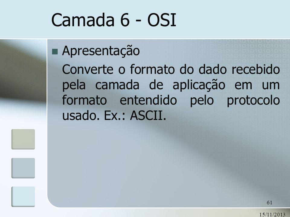 Camada 6 - OSI Apresentação