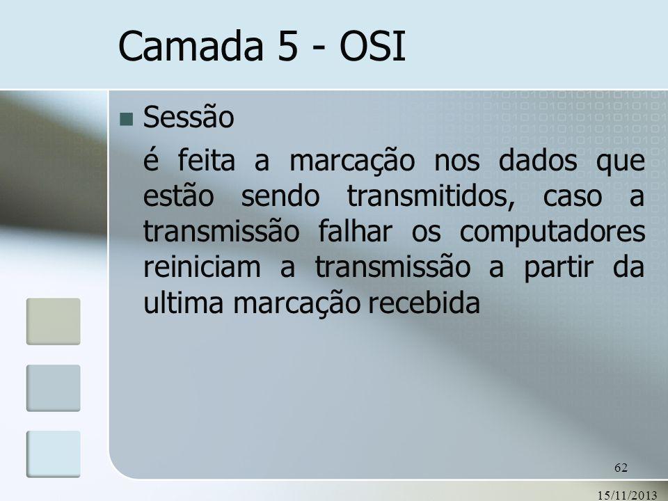 Camada 5 - OSI Sessão.
