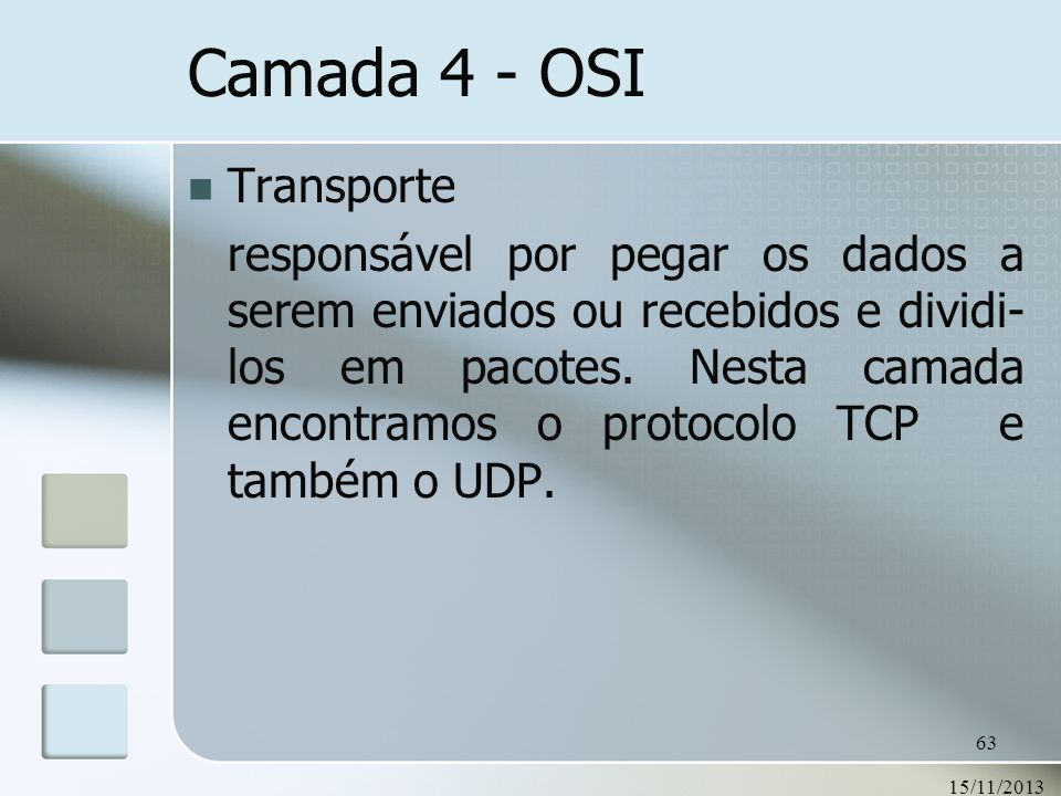 Camada 4 - OSI Transporte