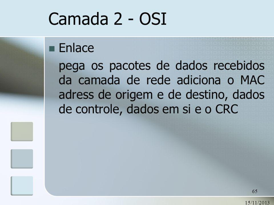 Camada 2 - OSI Enlace.