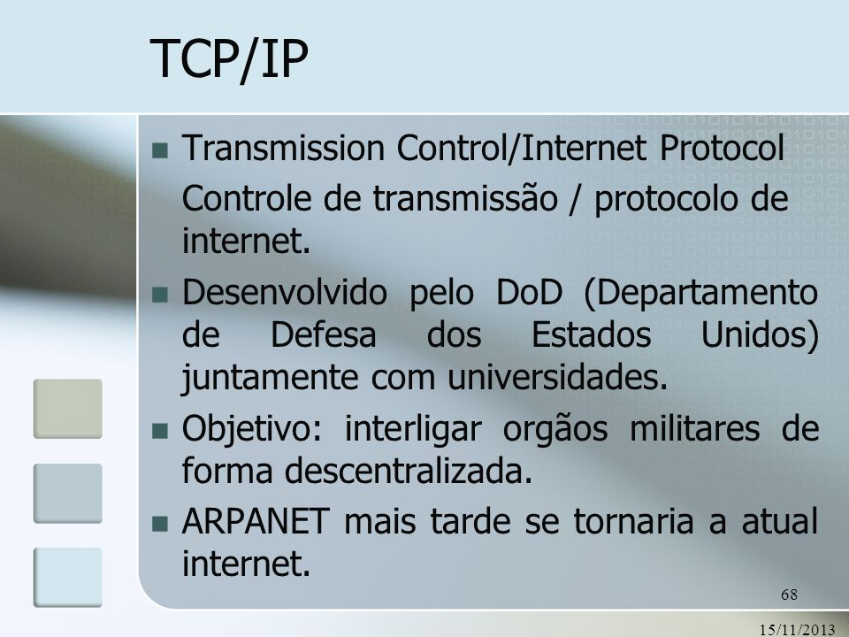 TCP/IP Transmission Control/Internet Protocol