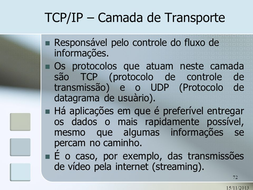 TCP/IP – Camada de Transporte