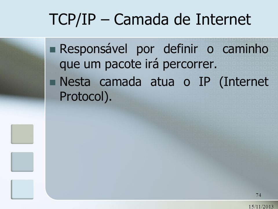 TCP/IP – Camada de Internet