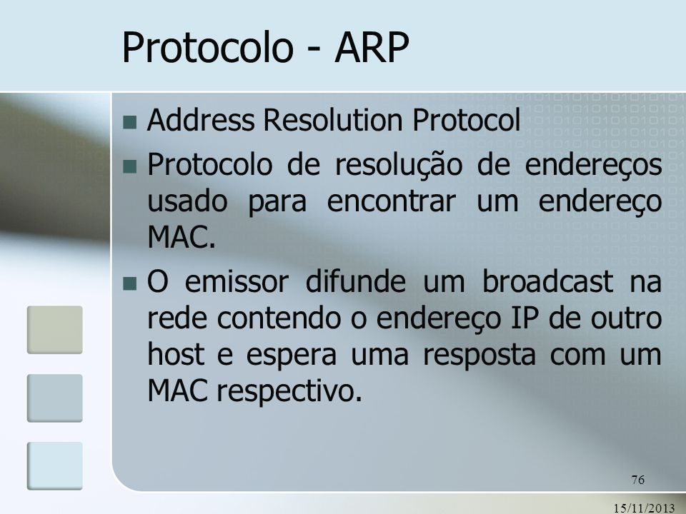 Protocolo - ARP Address Resolution Protocol