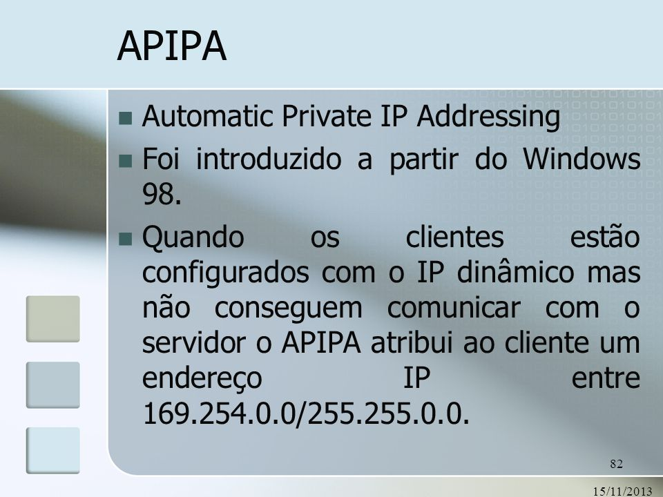 APIPA Automatic Private IP Addressing