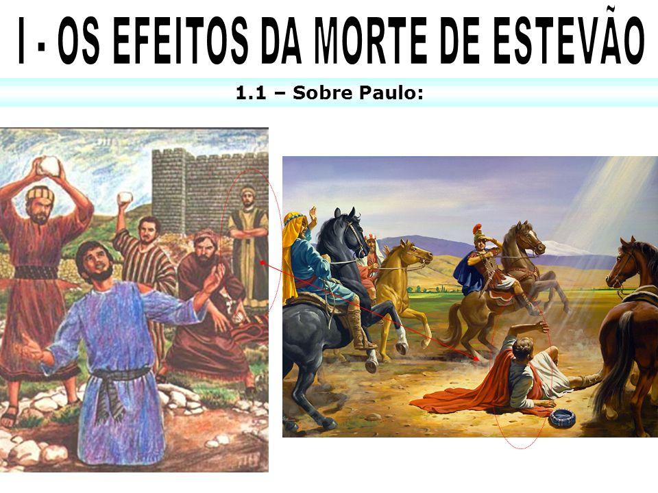 I - OS EFEITOS DA MORTE DE ESTEVÃO