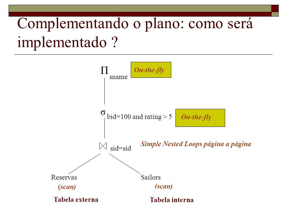 Complementando o plano: como será implementado