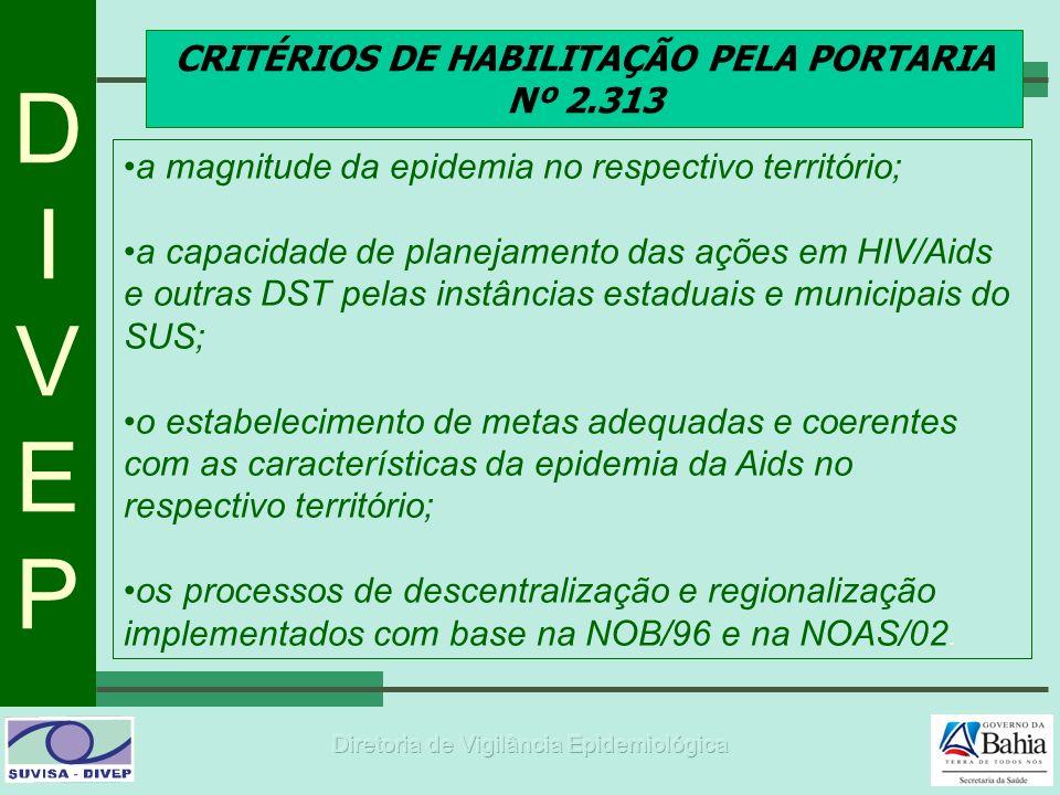 CRITÉRIOS DE HABILITAÇÃO PELA PORTARIA Nº 2.313