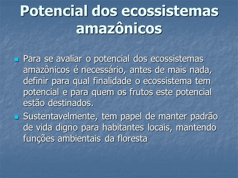 Potencial dos ecossistemas amazônicos