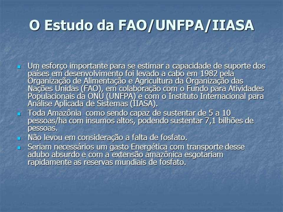 O Estudo da FAO/UNFPA/IIASA