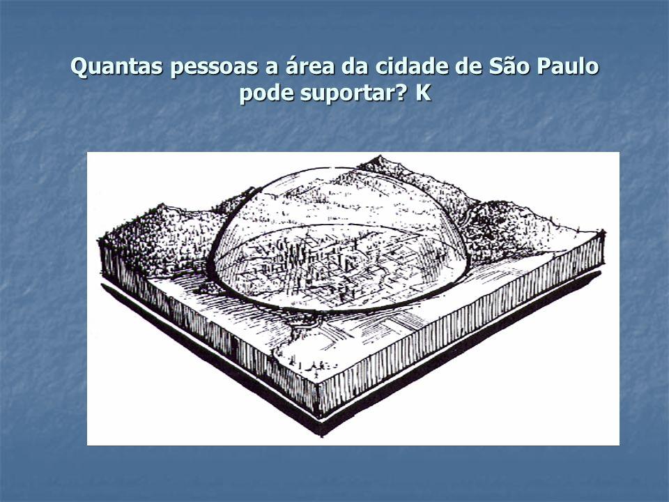 Quantas pessoas a área da cidade de São Paulo pode suportar K