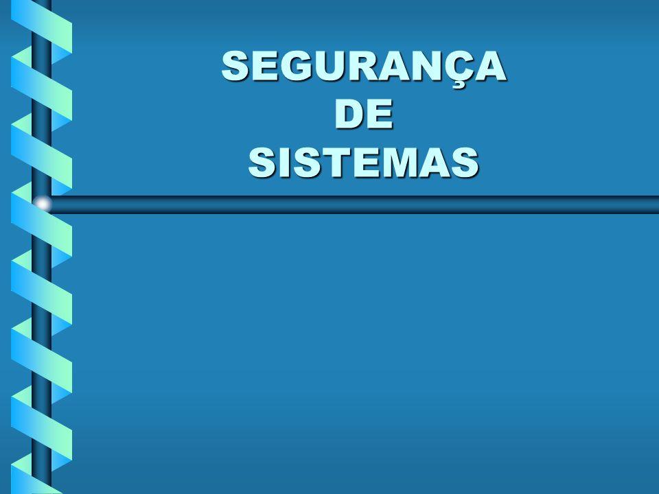 SEGURANÇA DE SISTEMAS