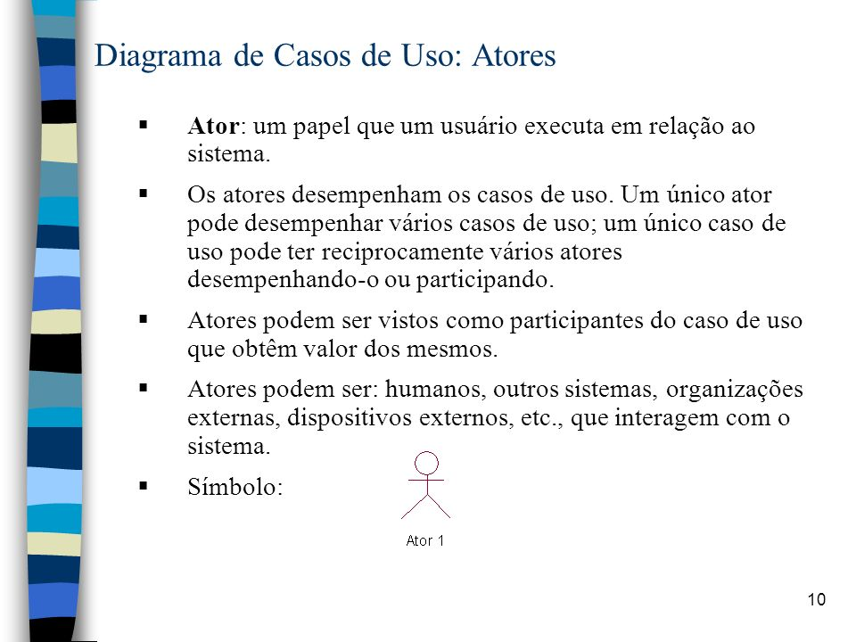 Diagrama de Casos de Uso: Atores