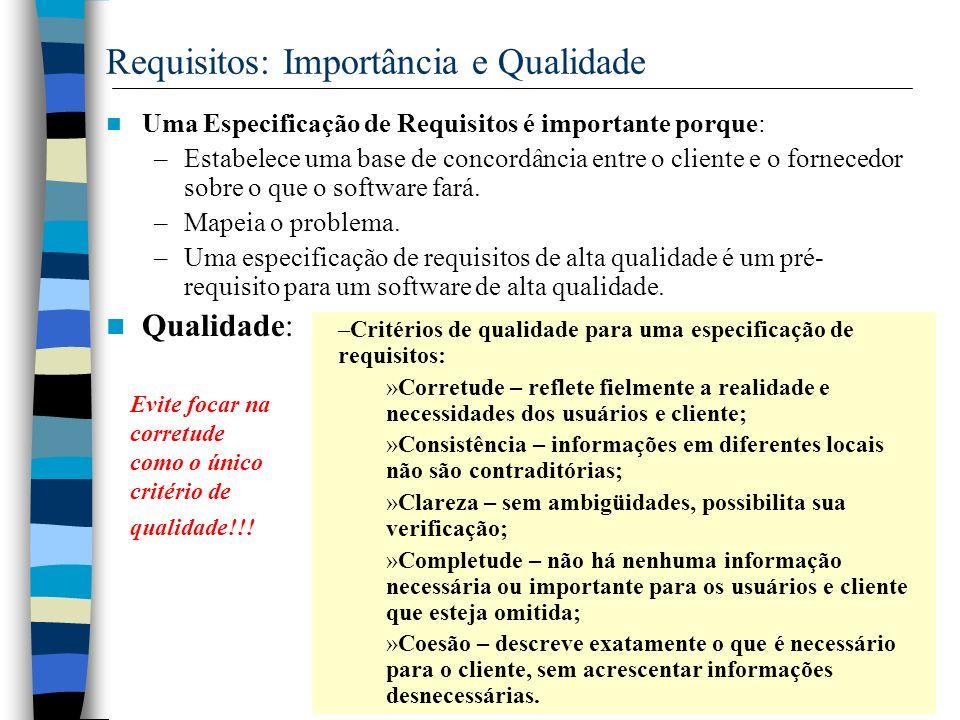 Requisitos: Importância e Qualidade