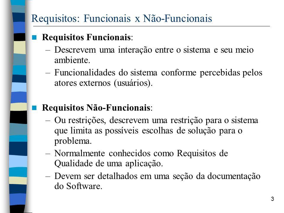 Requisitos: Funcionais x Não-Funcionais