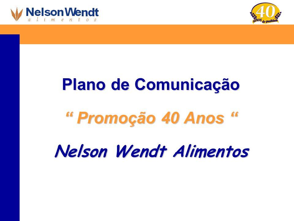 Plano de Comunicação Promoção 40 Anos Nelson Wendt Alimentos