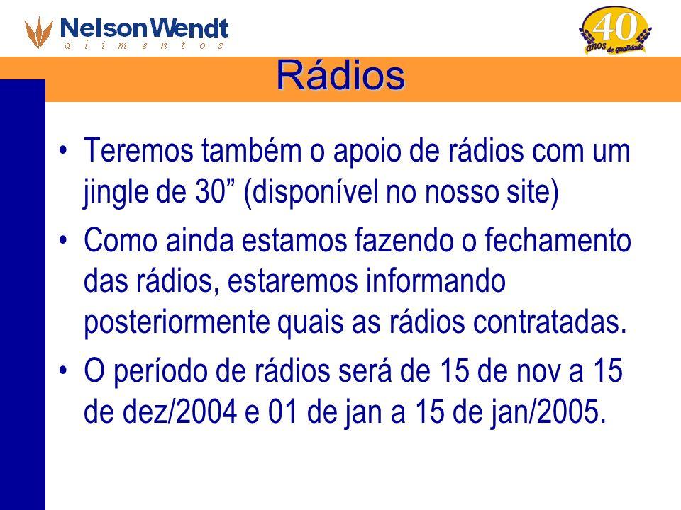 Rádios Teremos também o apoio de rádios com um jingle de 30 (disponível no nosso site)