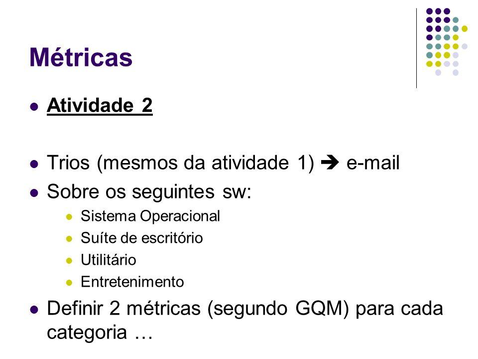 Métricas Atividade 2 Trios (mesmos da atividade 1)  e-mail