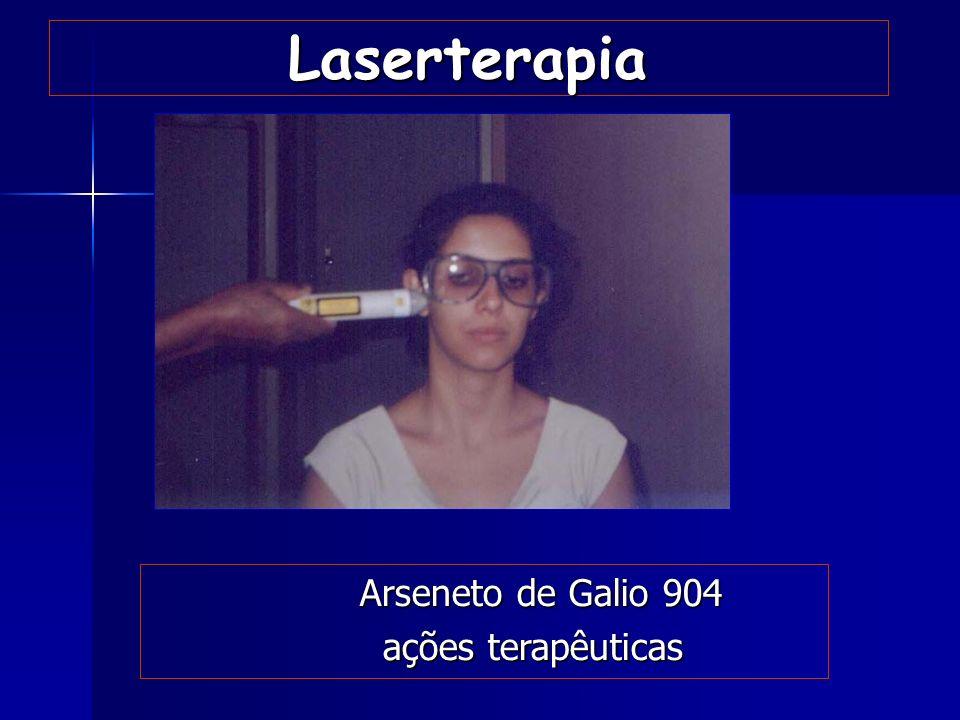 Laserterapia Arseneto de Galio 904 ações terapêuticas