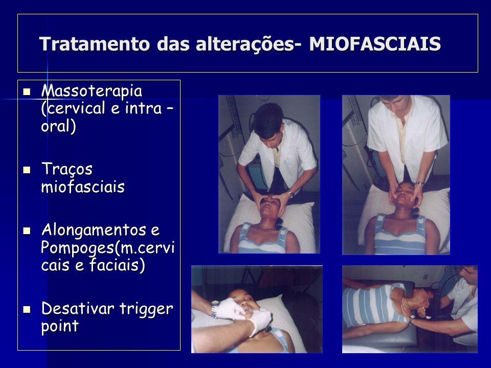 Tratamento das alterações- MIOFASCIAIS