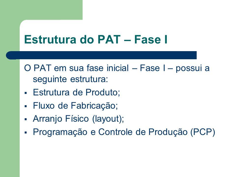 Estrutura do PAT – Fase I