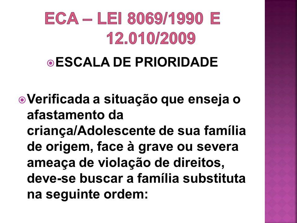 ECA – LEI 8069/1990 e 12.010/2009 ESCALA DE PRIORIDADE