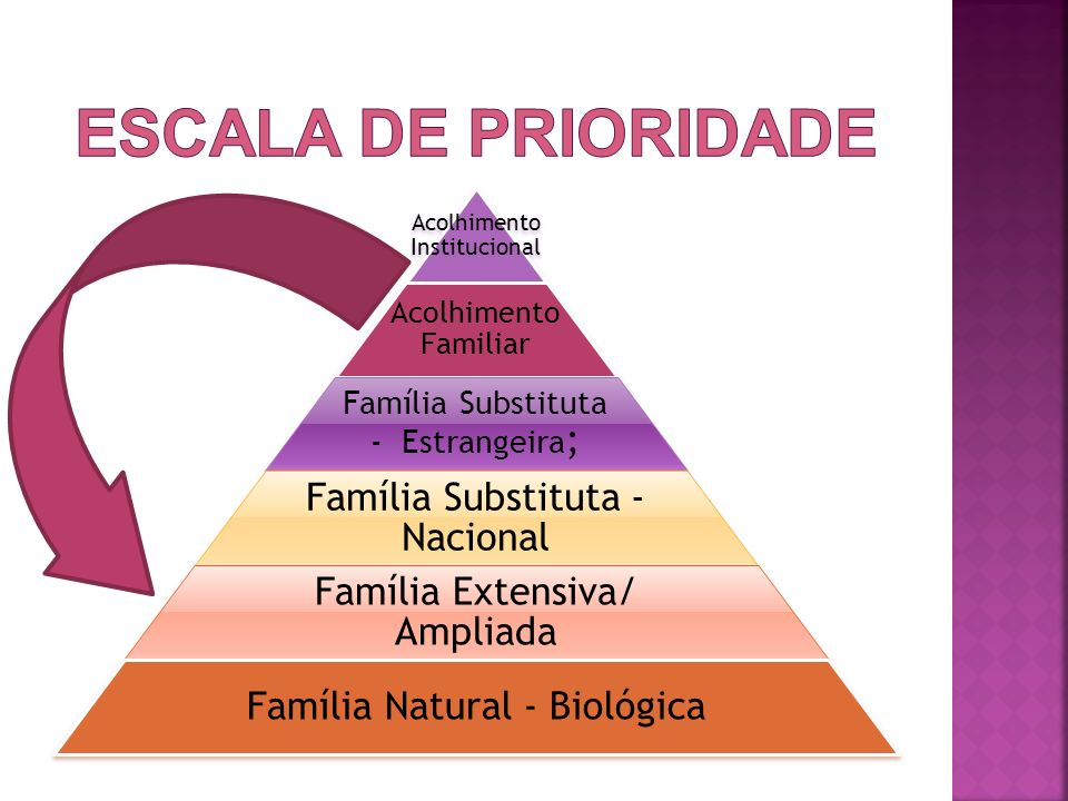 ESCALA DE PRIORIDADE Família Substituta - Nacional