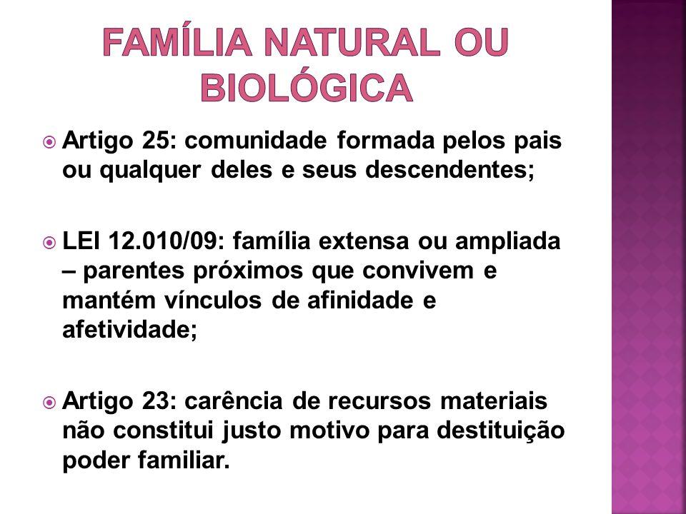 FAMÍLIA NATURAL OU BIOLÓGICA