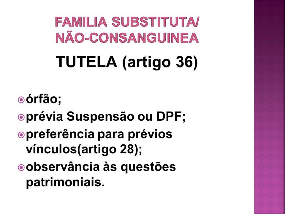 FAMILIA SUBSTITUTA/ NÃO-CONSANGUINEA