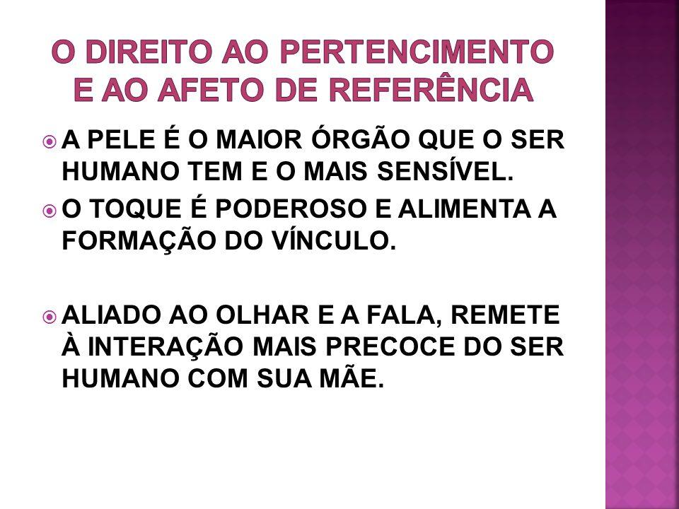 O DIREITO AO PERTENCIMENTO E AO AFETO DE REFERÊNCIA