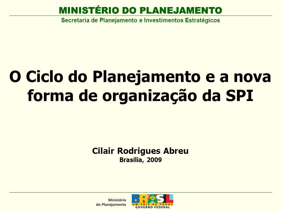 O Ciclo do Planejamento e a nova forma de organização da SPI