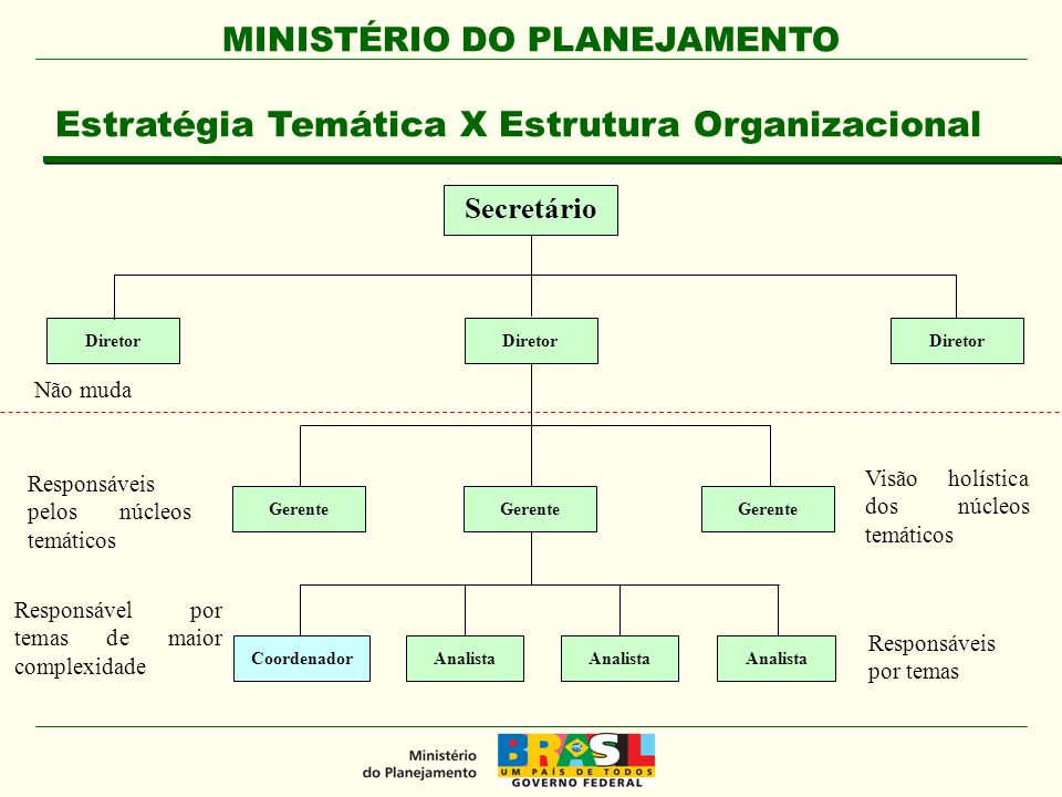 Estratégia Temática X Estrutura Organizacional