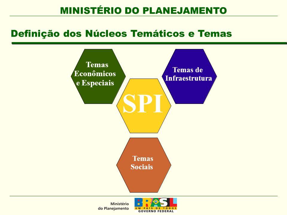 SPI Definição dos Núcleos Temáticos e Temas Temas Econômicos