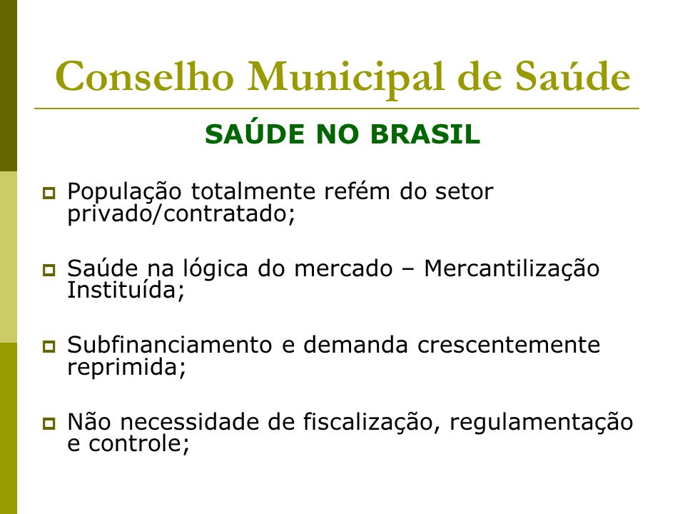 Conselho Municipal de Saúde