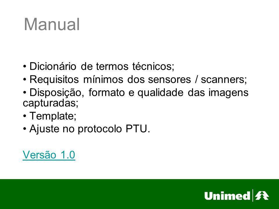 Manual Dicionário de termos técnicos;