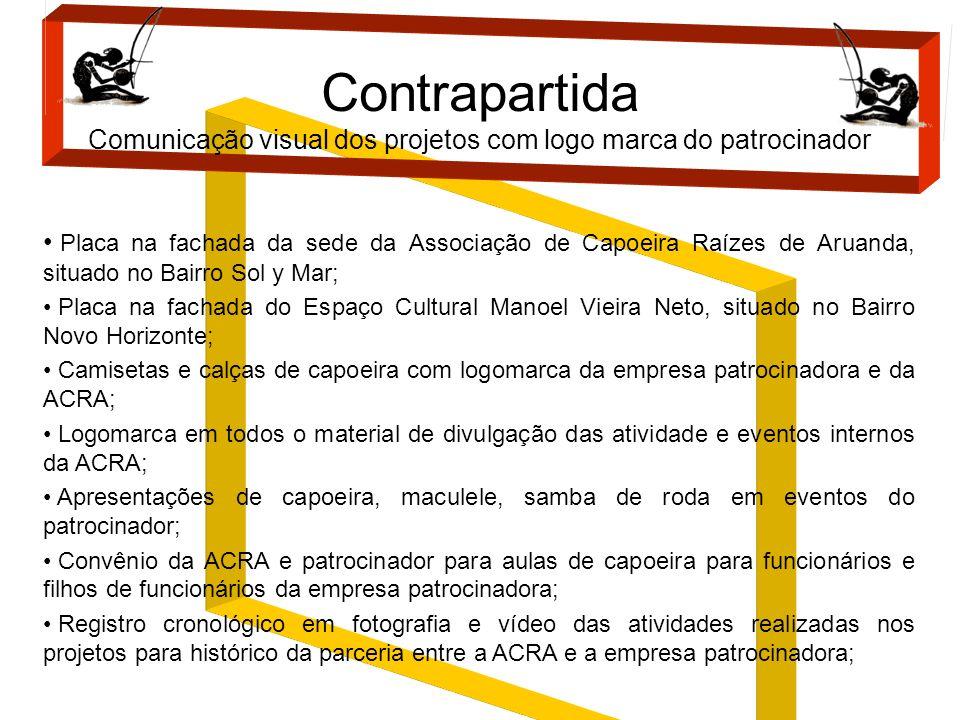 Contrapartida Comunicação visual dos projetos com logo marca do patrocinador