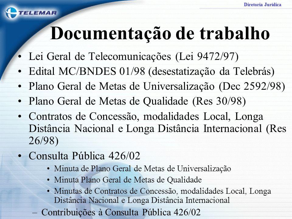 Documentação de trabalho