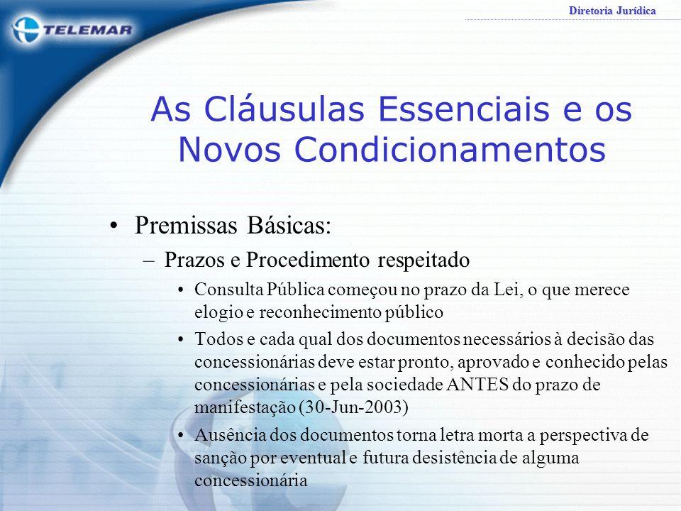 As Cláusulas Essenciais e os Novos Condicionamentos