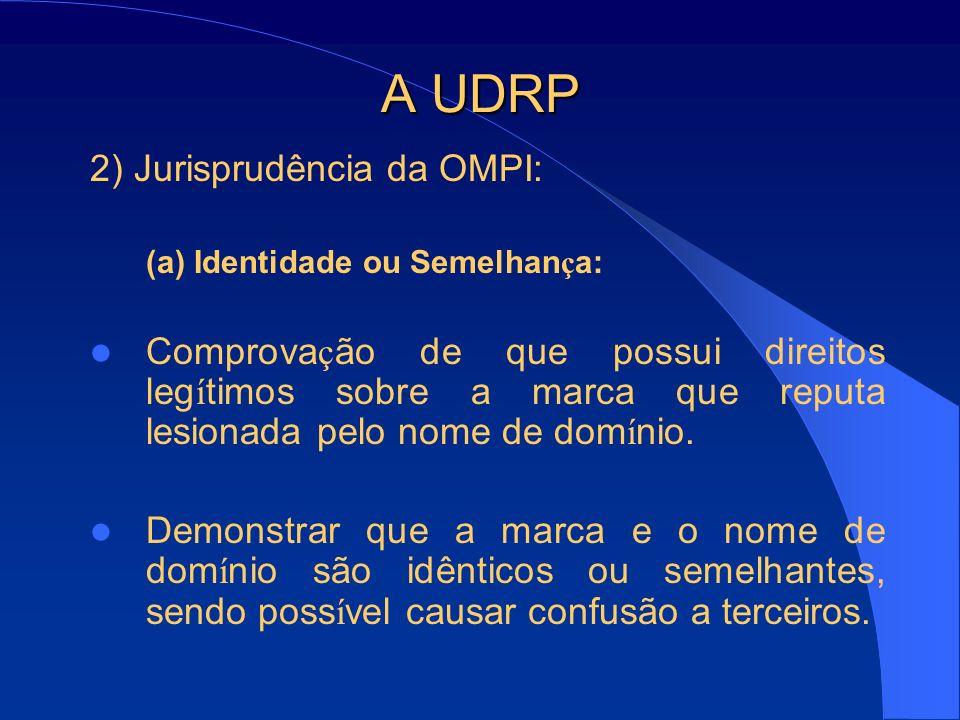A UDRP 2) Jurisprudência da OMPI: