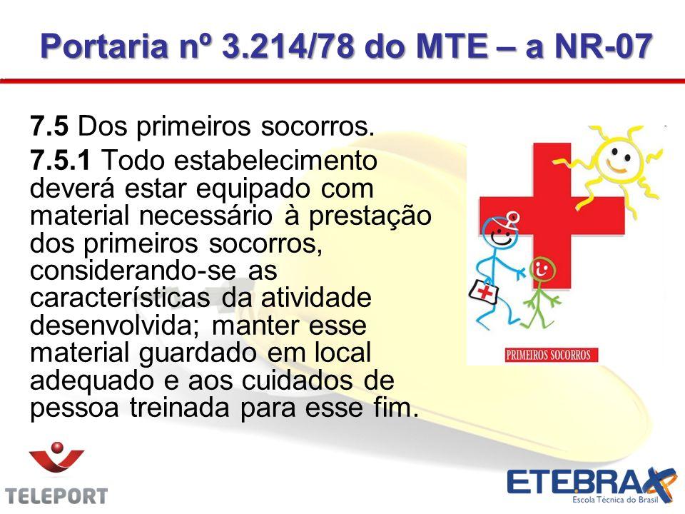 Portaria nº 3.214/78 do MTE – a NR-07