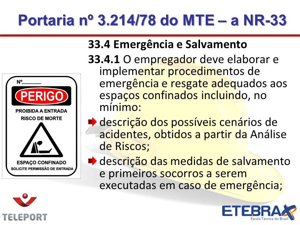 Portaria nº 3.214/78 do MTE – a NR-33
