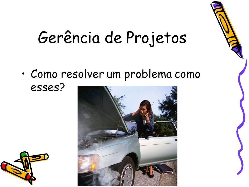 Gerência de Projetos Como resolver um problema como esses