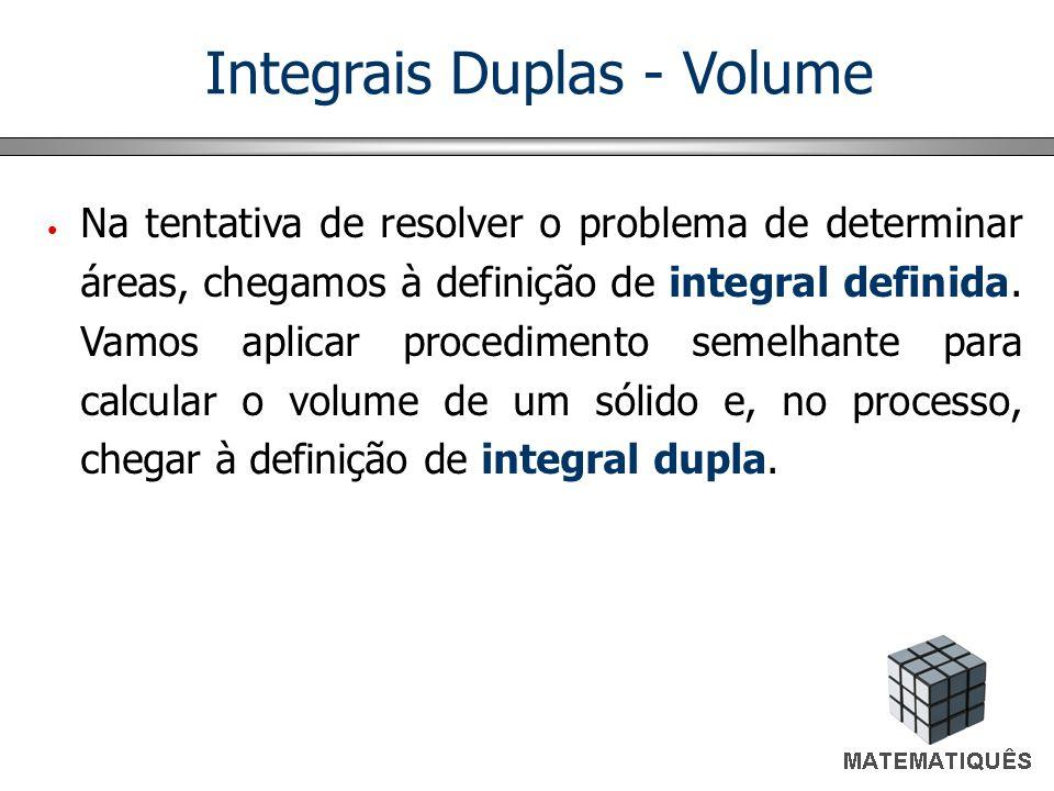 Integrais Duplas - Volume