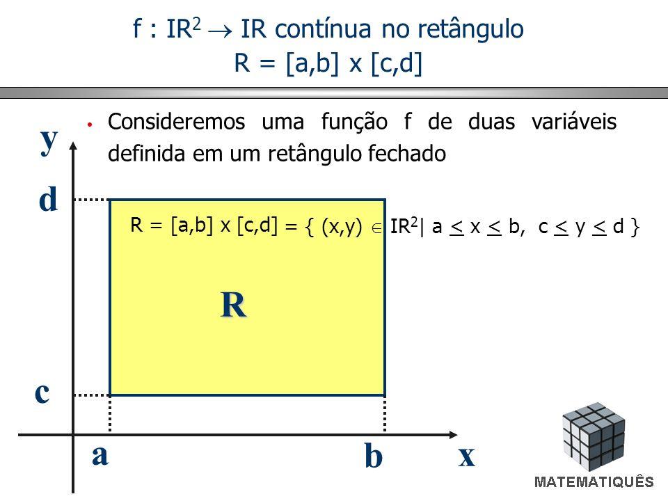 f : IR2  IR contínua no retângulo