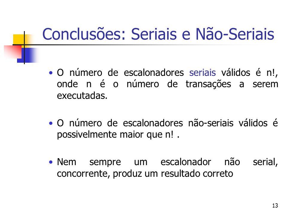 Conclusões: Seriais e Não-Seriais