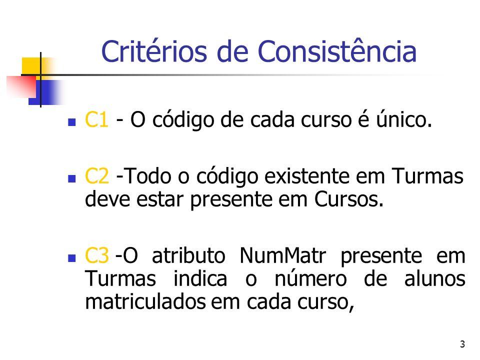 Critérios de Consistência
