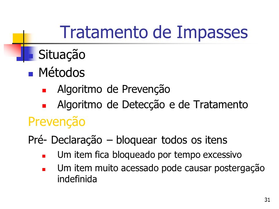 Tratamento de Impasses