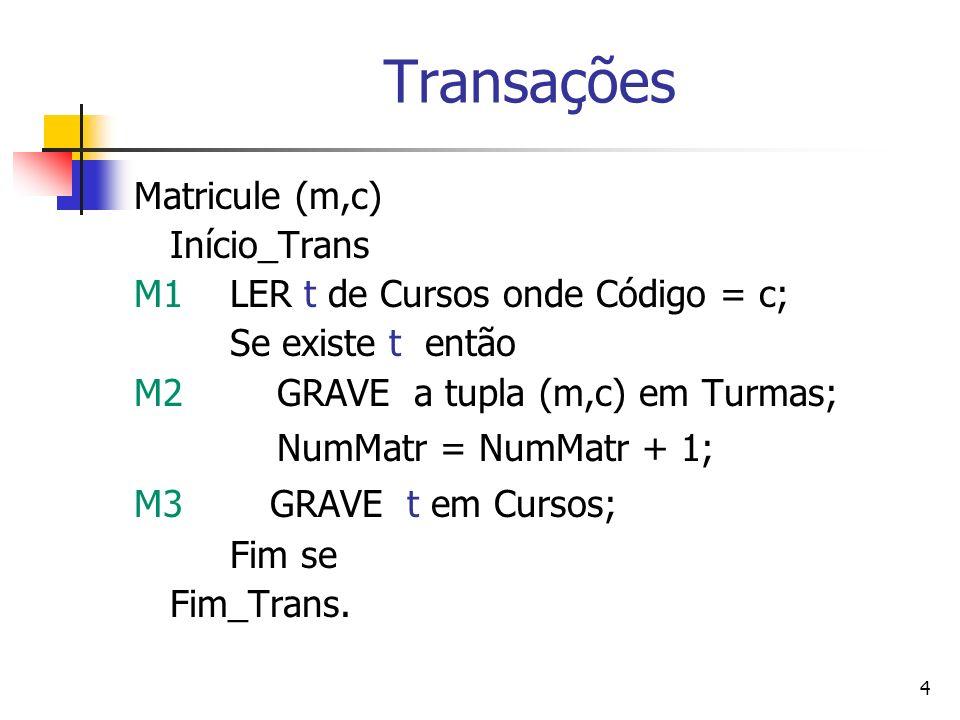 Transações Matricule (m,c) Início_Trans