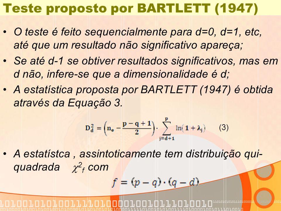 Teste proposto por BARTLETT (1947)